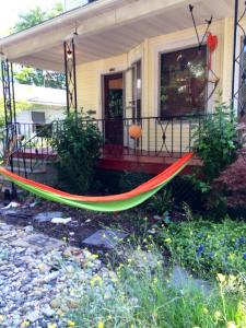 View of my hammock and front porch... where we spend most of our time