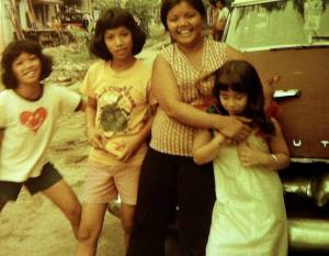my sisters (the kambal), aunt, me- Manila 1976