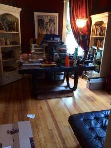 Most of things disposed of and furniture rearranged