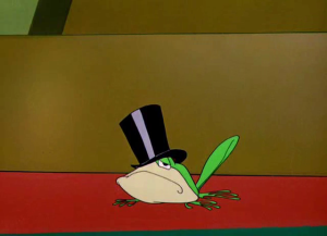 Getting photos or videos of her doing things is like having Michigan J Frog.