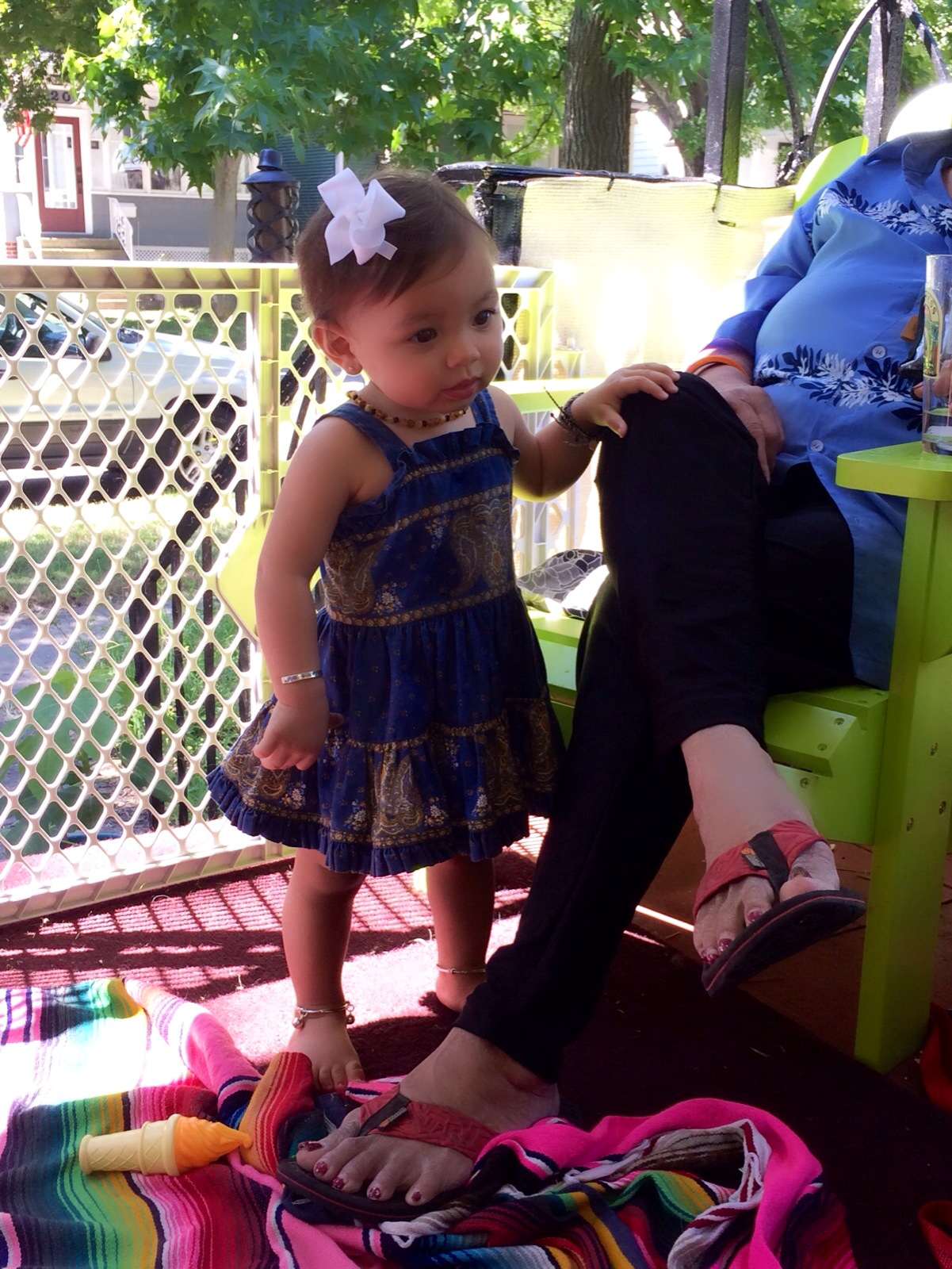 What S Maisie Wearing A Little Blue Sundress From India