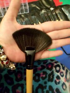 fan brush is very soft and fluffy