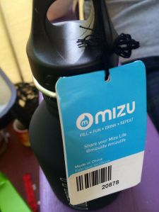 the first thing we saw in the Birchbox Man package was this small Mizu water bottle- probably only good for toting the baby's water