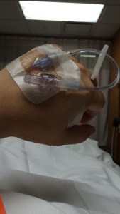 my 2nd IV, after they blew out a vein in my arm