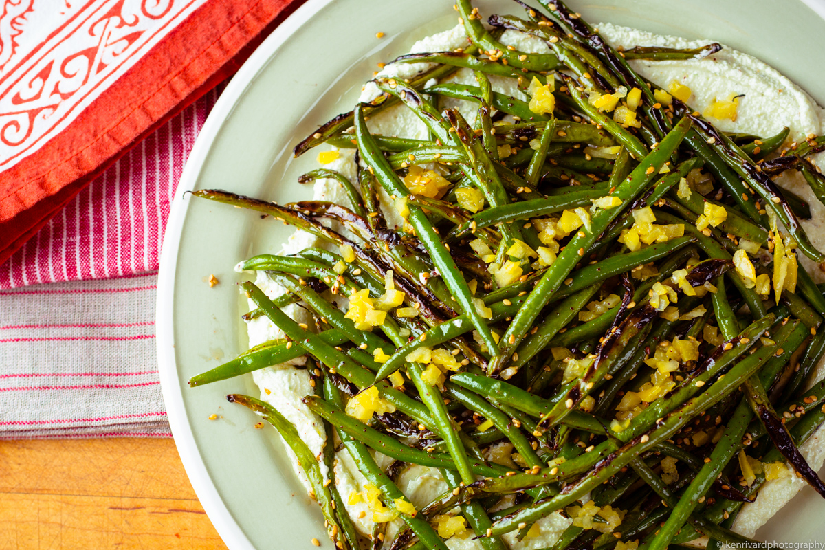 Seared Green Beans with Whipped Feta-3531