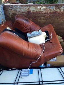 bye bye thingamajig and leather chair