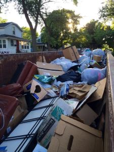 we extended the dumpster rental 20 more days- I don't think it will take 20 days to fill this completely